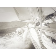 Graffitee Studios Nautical 'Clear Day Sailing II' Photographic Print on Wrapped Canvas