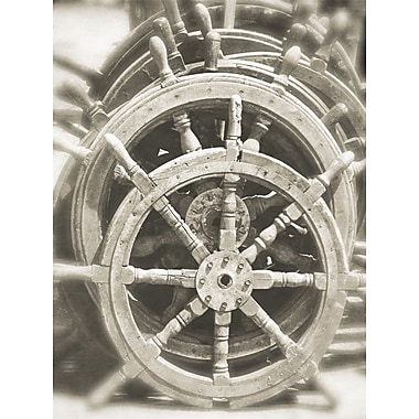 Graffitee Studios Nautical 'Ships' Wheels' Photographic Print on Wrapped Canvas