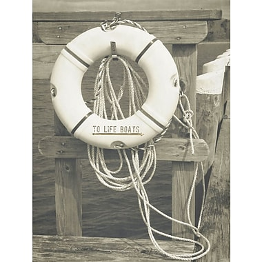Graffitee Studios General Coastal 'To Life Boats' Photographic Print on Wrapped Canvas