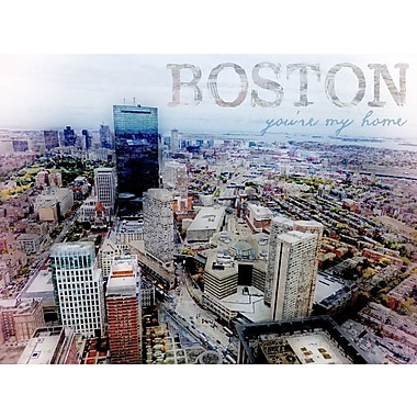 Graffitee Studios Views from the Pru 'Boston You're My Home' Graphic Art on Wrapped Canvas