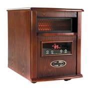 1500 Watt Quartz Portable Infrared Cabinet Heater W/Stainless Steel Diffuser & Remote Control