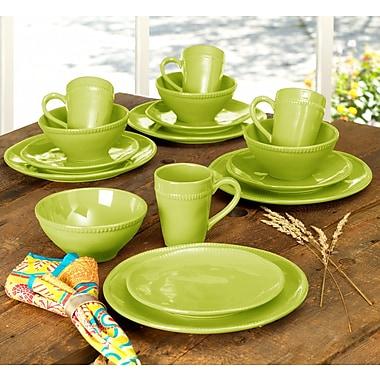 Euro Ceramica Al Garve 16 Piece Dinnerware Set, Service for 4; Green