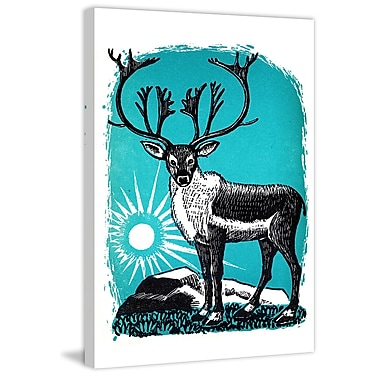 Marmont Hill 'The Caribou' Painting Print on Wrapped Canvas; 18'' H x 12'' W x 1.5'' D