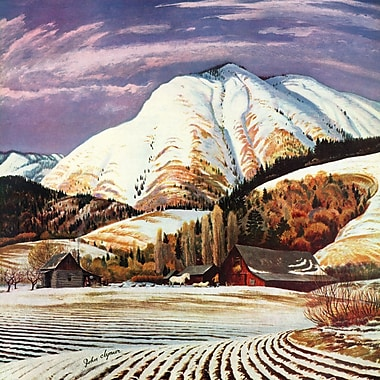 Marmont Hill 'Cascade Mountain' Painting Print on Wrapped Canvas; 48 H x 48 W x 1.5 D