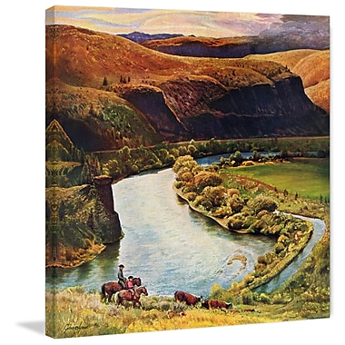 Marmont Hill 'Yakima River' Painting Print on Wrapped Canvas; 48 H x 48 W x 1.5 D