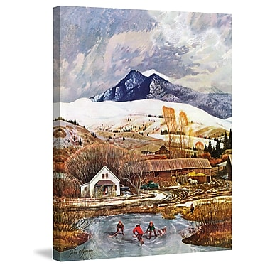 Marmont Hill 'Ice Hockey' Painting Print on Wrapped Canvas; 52'' H x 40'' W x 1.5'' D