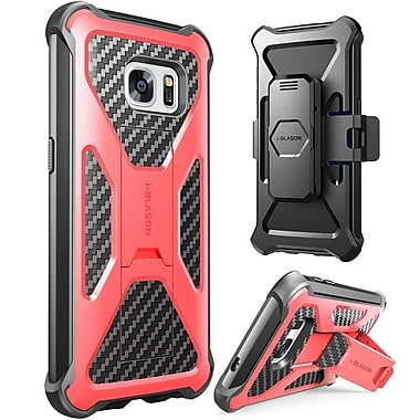 i-Blason Prime Series Kickstand Case with Belt Clip Holster for Samsung Galaxy S7 - Red
