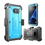 SUPCASE Unicorn Beetle Series Pro Fullbody Case with built-in Screen Protector & Holster for Samsung Galaxy S7, Blue