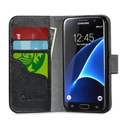 SUPCASE Synthetic Wallet Case for Samsung Galaxy S7 Edge - Black