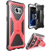 i-Blason Prime Series Kickstand Case with Belt Clip Holster for Samsung Galaxy S7 Edge - Red