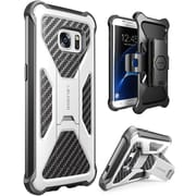 i-Blason Prime Series Kickstand Case with Belt Clip Holster for Samsung Galaxy S7 Edge - White