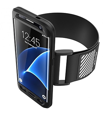 SUPCASE Easy Fitting Sport Armband and Flexible Case Combo for Samsung Galaxy S7 Edge - Black