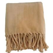 De Moocci Soft Fringe Throw Blanket; Camel