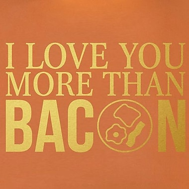 SweetumsWallDecals I Love You More than Bacon Wall Decal; Gold