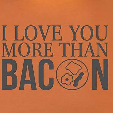 SweetumsWallDecals I Love You More than Bacon Wall Decal; Dark Gray