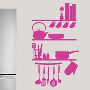 SweetumsWallDecals Kitchen Shelves Utensils Wall Decal; Hot Pink
