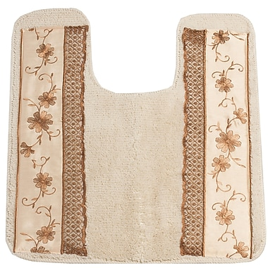 Sweet Home Collection Veronica Banded Bath Rug