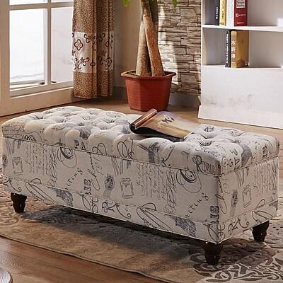 NOYA USA Upholstered Storage Entryway Bench