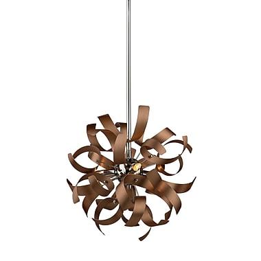 Artcraft Lighting Belair 3-Light Mini Pendant; Copper