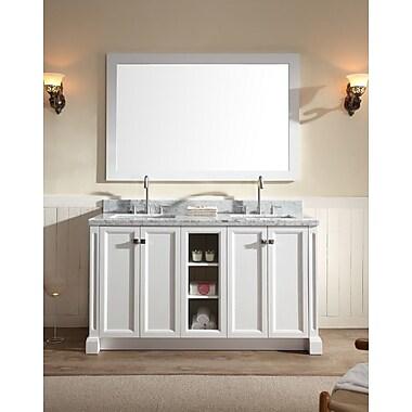 Ariel Bath Westwood 61'' Double Bathroom Vanity Set; White