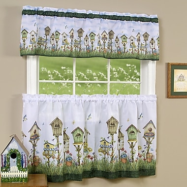Sweet Home Collection Home Sweet Home Valance and Tier Set
