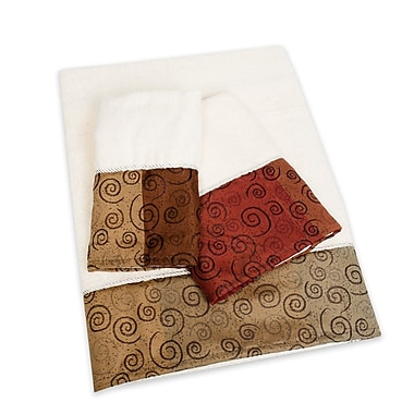 Sweet Home Collection Miramar 3 Piece Towel Set