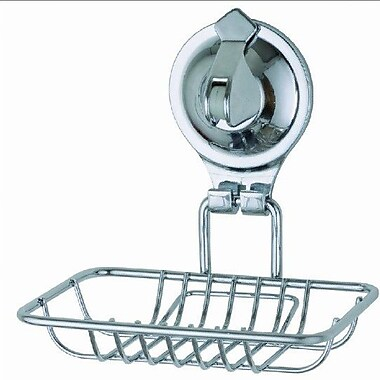 Sweet Home Collection Popular Tailor Locking Wall Mount Suction Cup Soap Dish