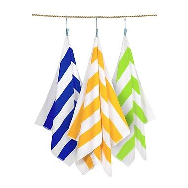 Crover Cabana Stripe 3 Piece Beach Towel Set; Assorted