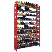Rebrilliant 10-Tier Shoe Rack; Red