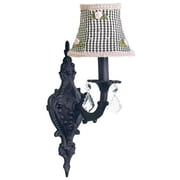 Jubilee Collection Black Check Shade in Black1-Light Armed Sconce