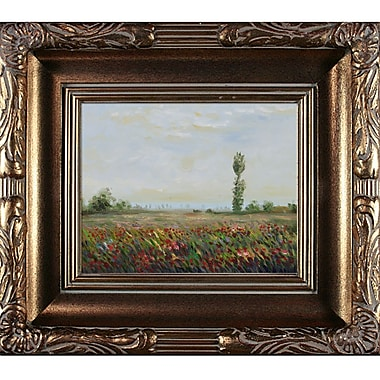 Wildon Home The Fields of Poppies by Claude Monet Framed Painting