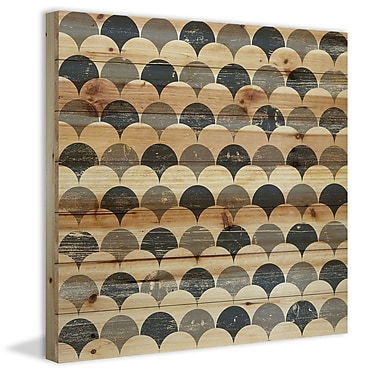 Marmont Hill 'Bubbles In Rows' Painting Print on Natural Pine Wood; 24'' H x 24'' W x 1.5'' D