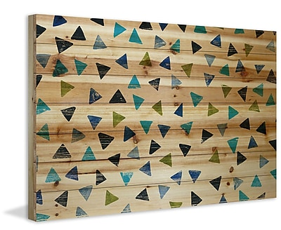 Marmont Hill 'Teepee Land' Print on Natural Pine Wood; 40'' H x 60'' W