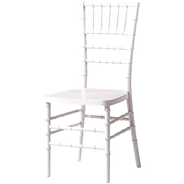 Commercial Seating Products Max Series Resin Chiavari Side Chair; White