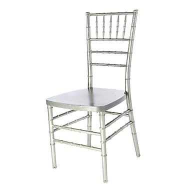 Commercial Seating Products Max Series Resin Chiavari Side Chair; Silver