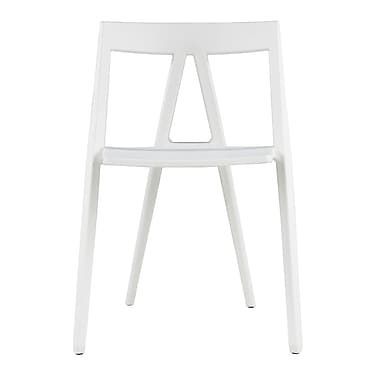 Commercial Seating Products Milan Armless Stacking Chair; White