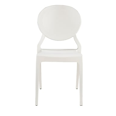 Commercial Seating Products Emma Armless Stacking Chair; White