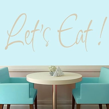 SweetumsWallDecals Let's Eat Wall Decal; Beige