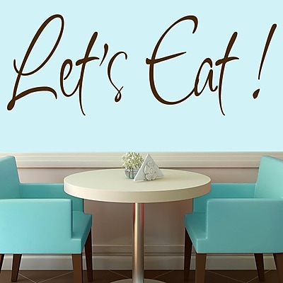 SweetumsWallDecals Let's Eat Wall Decal; Brown
