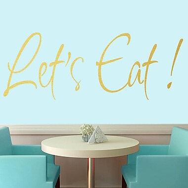SweetumsWallDecals Let's Eat Wall Decal; Gold