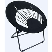 ImpactCanopy Bungee Chair Folding Dorm Lounge Chair; Black