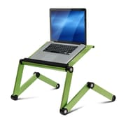 Wildon Home   Vented Laptop Table / Portable Bed Tray Book Stand; Green
