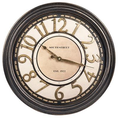 Ashton Sutton 16'' Raised Number Dial Wall Clock