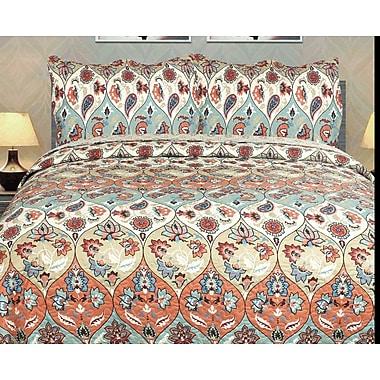 DaDa Bedding 3 Piece Quilt Set; King