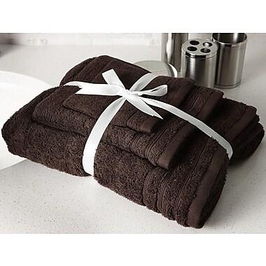 Flato Home Edged Terry 3 Piece Towel Set; Chocolate