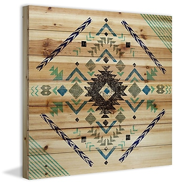 Marmont Hill 'Pretty Pattern' Painting Print on Natural Pine Wood; 32'' H x 32'' W x 1.5'' D