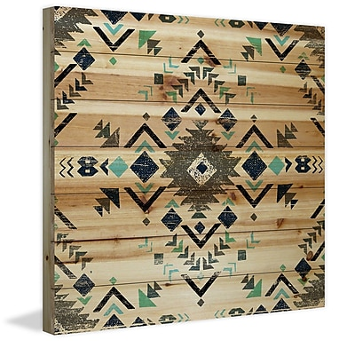 Marmont Hill 'Shaded Triangles' Print on Wood; 24'' H x 24'' W