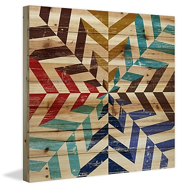 Marmont Hill 'Kaleidoscope' Painting Print on Natural Pine Wood; 32'' H x 32'' W
