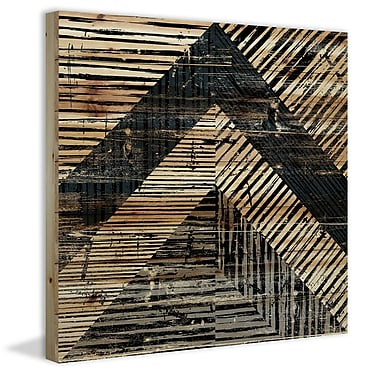 Marmont Hill 'Native Mosaic' Painting Print on Natural Pine Wood; 24'' H x 24'' W x 1.5'' D