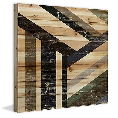 Marmont Hill 'Three Ways' Painting Print on Natural Pine Wood; 24'' H x 24'' W x 1.5'' D